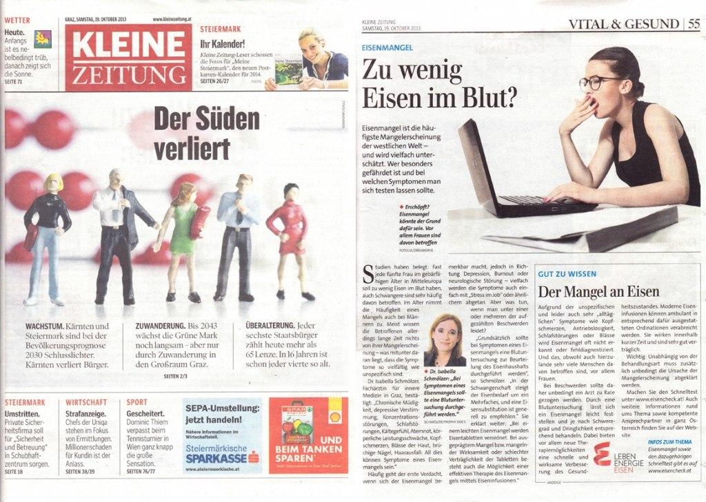 Kleine Zeitung_19 Okt. 2013_eisencheck.at